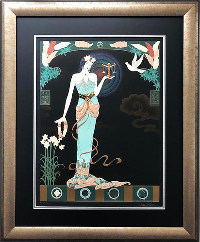 "Lillian Shao ""Fairest Maiden"" (Libra) Hand Signed FRAMED Art"