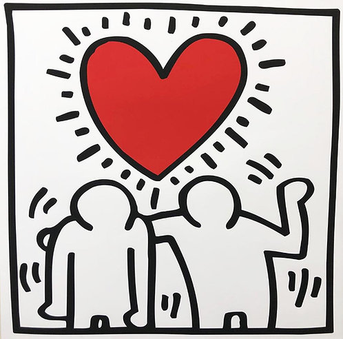"Keith Haring ""KH03"" CUSTOM FRAMED Print"