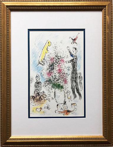 "Marc Chagall ""Les Lilas"" Newly CUSTOM FRAMED Rare Offset Litho"