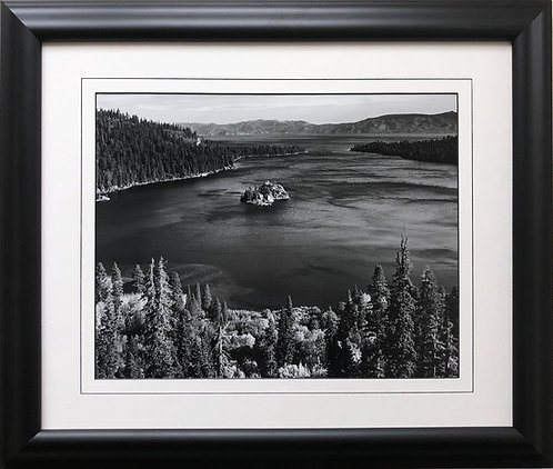 "Ansel Adams ""Emerald Bay""  Lake Tahoe, California Custom Framed NEW ART photo"