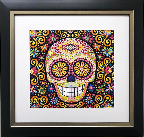 "Thaneeya McArdle"" Cosmic Fete"" Sugar Skull Framed Art"