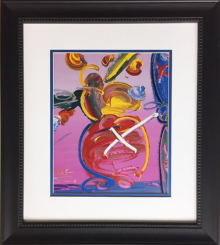 """Peter Max """"Abstract Series - Vase with Flowers I"""""""