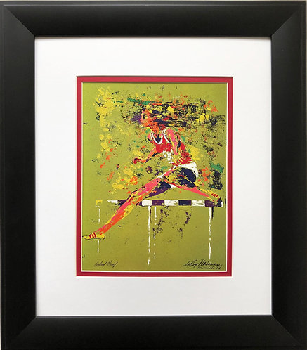 "LeRoy Neiman ""Olympic Hurdler""  Munich Runner Track and Field Running Art"