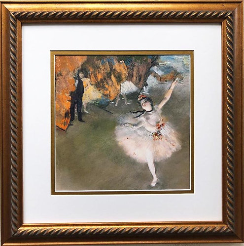"Degas ""Dancer on the Stage"" Framed Art Print"