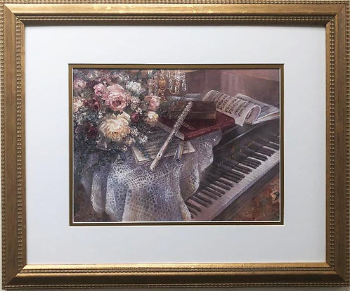 "Lena Liu ""Harmonic Duet"" Hand Signed Limited Edition Framed Art"