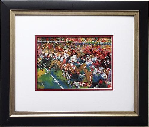 "LeRoy Neiman ""Silver Dome Super Bowl 1982"" Newly FRAMED  XVI San Francisco 49ers"