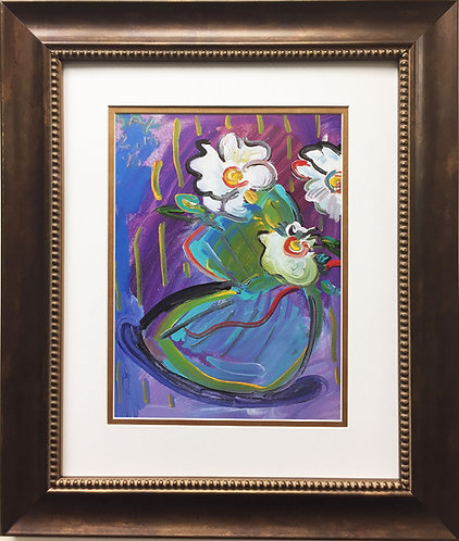 """Peter Max """"Vase with Flowers III"""" (1996)"""