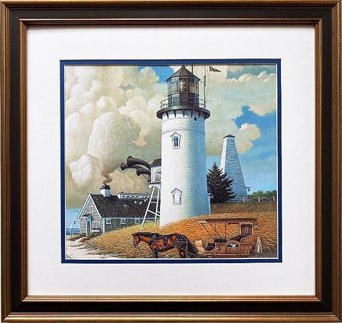 """Charles Wysocki """"Dream Shore"""" (detail) New CUSTOM FRAMED Art"""