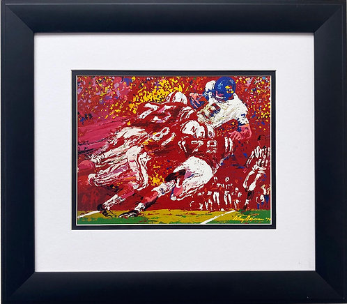 "LeRoy Neiman ""Nebraska Blackshirts Gangtackle Kansas Jayhawks"" FRAMED Art"