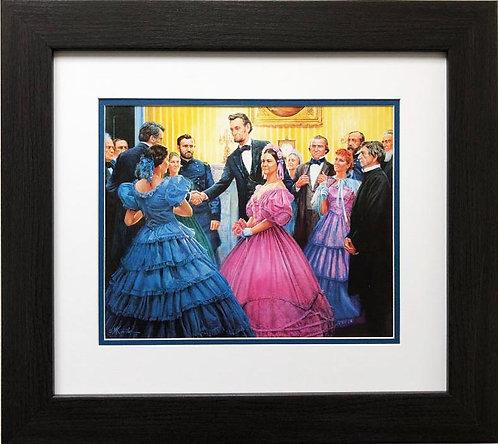 """Mort Kunstler """"Lincoln's Inaugural Ball"""" NEW CUSTOM FRAMED Civil War Art"""