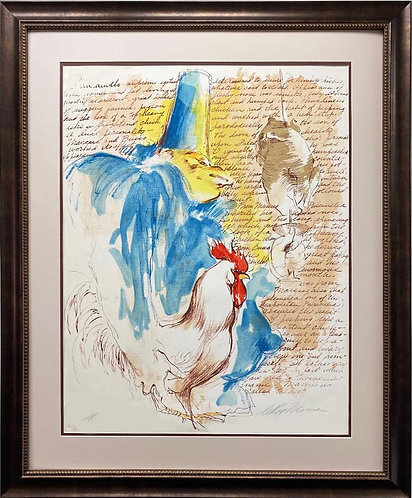 """LeRoy Neiman """"Punchinello"""" Signed & #AP Lithograph FRAMED"""