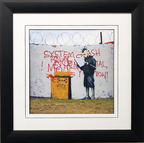 """BANKSY """"Some Assembly Required"""" New FRAMED Art"""