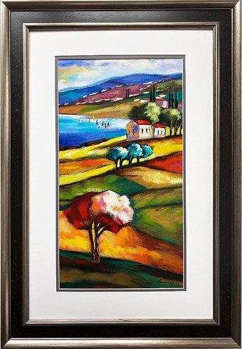 "Slava Brodinsky ""April Morning"" Framed Signed & # Serigraph Art"