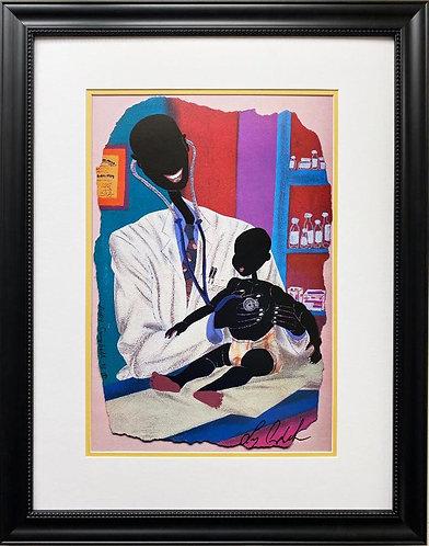"Leroy Campbell ""Pediabone"" Hand Signed African American Art"
