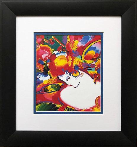 "Peter Max ""Flower Blossom Lady"" Newly CUSTOM FRAMED Print Art"