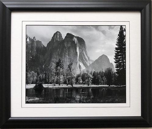 "Ansel Adams ""Cathedral Rocks"" Yosemite National Park Custom Framed NEW ART"