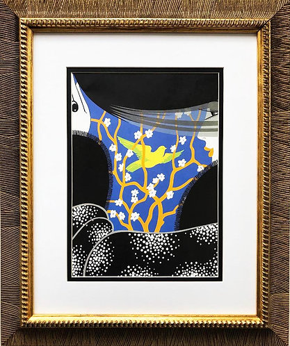 """Erte """"Spring"""" CUSTOM FRAMED Print"""