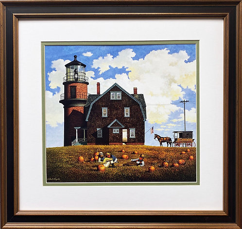 "Charles Wysocki ""Gay Head Lighthouse"" New FRAMED Art"
