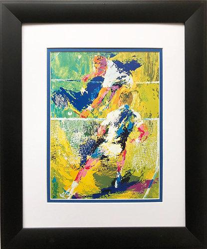 """LeRoy Neiman """"Match Point""""  Art Print Tennis Court Sports"""