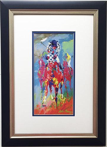 "LeRoy Neiman ""Secretariat"" Newly CUSTOM FRAMED Art Print - Horse Equestrian"