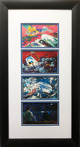 """LeRoy Neiman """"Moby Dick Suite""""  Newly CUSTOM FRAMED Art Print Literature Classic"""