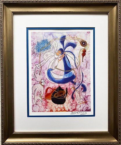"Rothenberg ""The Wolf Shall Dwell with the Lamb"" FRAMED Signed Art"