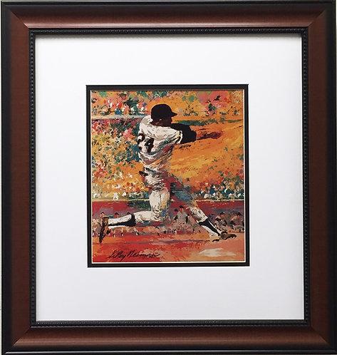 "LeRoy Neiman ""Willie Mays"" CUSTOM FRAMED Print NEW YORK - San Francisco Giants"