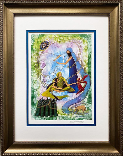 "Rothenberg ""The Twins"" FRAMED Hand Signed Art"