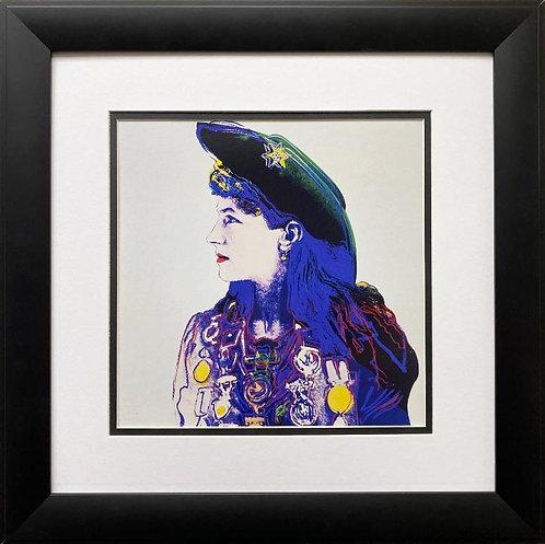 """Andy Warhol """"Annie Oakley: Cowgirl"""" 1958 CUSTOM FRAMED Pop Art Lithograph"""