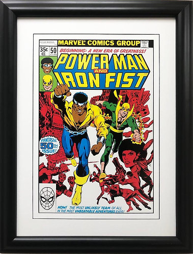 "Marvel ""Power Man and Iron Fist "" #50 Framed Poster Comic Book Art"