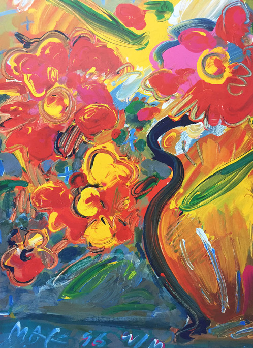 Peter Max Vase With Flowers I 1996