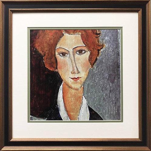 "Amedeo Modigliani ""Portrait de Femme"" CUSTOM FRAMED ART"