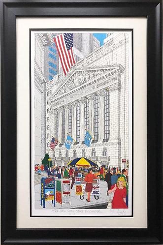 """John Suchy """"New York Stock Exchange"""" Custom FRAMED Art Signed Lithograph"""