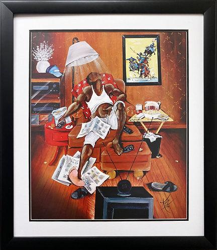 "Annie Lee ""In Control"" NEW Custom FRAMED African American ART"