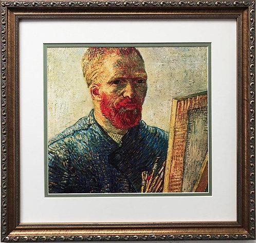 "Vincent Van Gogh ""Self Portrait as an Artist"" CUSTOM FRAMED ART"