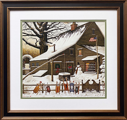 "Charles Wysocki ""Cocoa Break at the Copperfield"" New FRAMED Art"