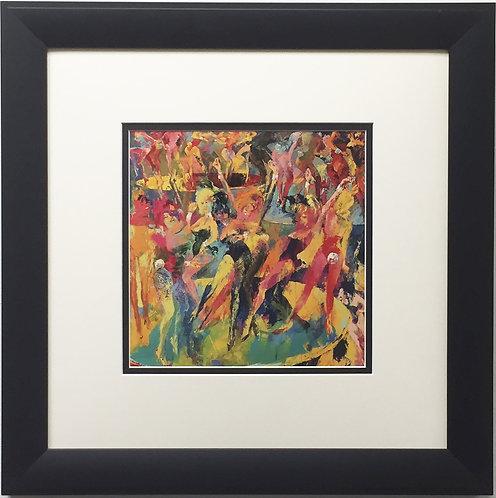 "LeRoy Neiman ""Disco Bunnies"" Newly CUSTOM FRAMED Art Print - PLAYBOY MAGAZINE"