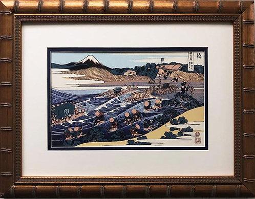 "Katsushika Hokusai ""Mt. Fuji from Kanaya"" 1830 New Custom Framed Asian Art"