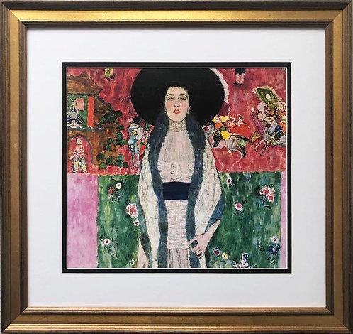 """Gustav Klimt """"Portrait of Emilie Floge"""" (detail) CUSTOM FRAMED ART"""