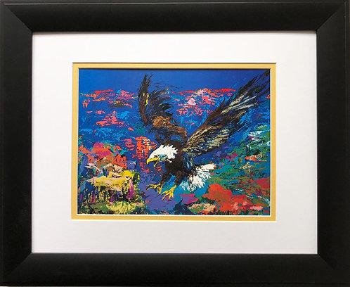 "LeRoy Neiman ""American Bald Eagle"" New FRAMED  Print Patriotic Aviary USA Animal"