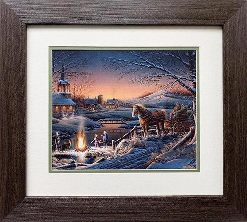 "Terry Redlin ""Sharing the Evening"" CUSTOM FRAMED Rural America Art Print"