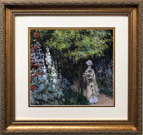 "Claude Monet ""Rose garden '1876"" FRAMED Art"