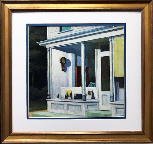 "Edward Hopper ""Seven A.M."" New CUSTOM FRAMED Art"