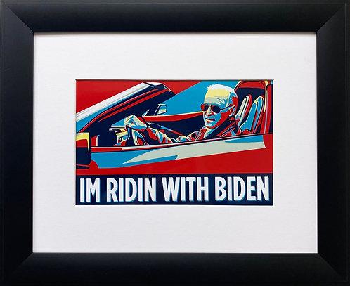 "Joe Biden ""I'm Ridin' With Biden"" Framed Art Print"