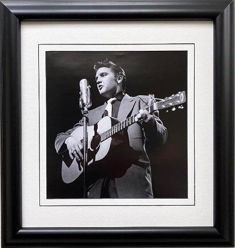 """Elvis Presley """"At CBS Studio 50-Stage Show- I """" Framed Litho Art"""