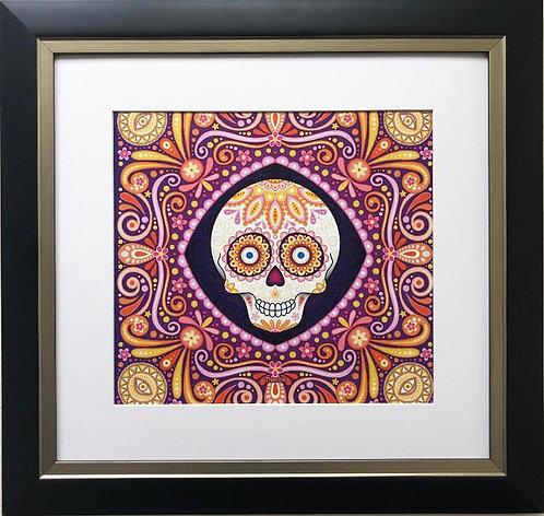 "Thaneeya McArdle ""Pico"" ( The Peak)Sugar Skull Framed Art"