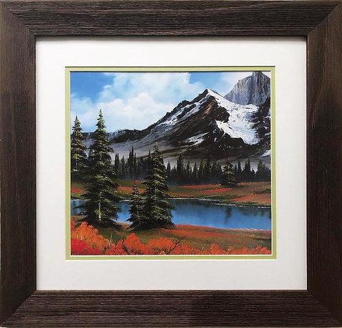 """Bob Ross """"Blooming Spring"""" CUSTOM FRAMED ART"""