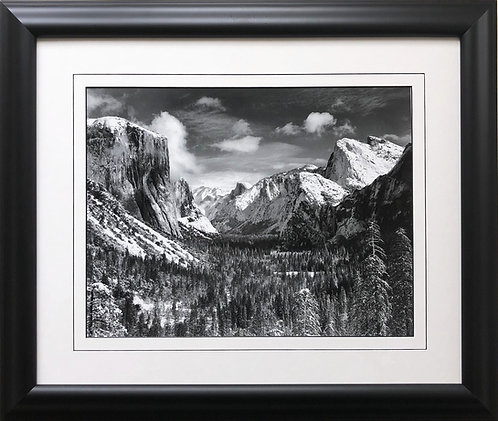 "Ansel Adams ""Yosemite Valley WInter"" Custom Framed NEW ART photography mountains"