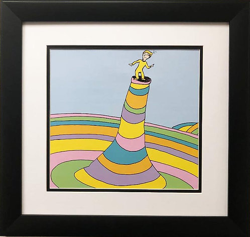 """Dr. Seuss """"Oh, the Places You'll Go!"""" NEW FRAMED ART"""
