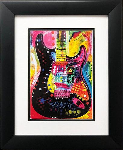 "Dean Russo ""Lenny Strat"" FRAMED Street Pop Art"